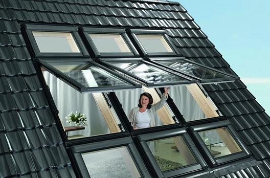 Roto Dachfenster Kombination 6er Kassette Im Ziegeldach
