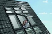 6er Kombination mit Roto R6 und Roto R8 Wohndachfenster