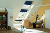 Roto 3er Kombination Wohnadchfenster R6, R8, R6 mit Sonnenschutz