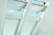 Roto Designo R6 Schwingfenster kombiniert mit Designo R8 Klapp-Schwingfenster.