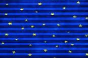 Roto Faltstore Blau mit Sternen - lichtundurchlässig, Dekornummer F-160