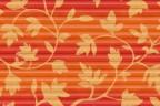 Roto Faltstore Orange mit Blumen-Dekor - lichtdurchlässig, Perlglanz-Beschichtet, Dekornummer D-143