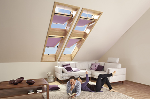 sonnenschutz und zubeh r f r wohndachfenster von roto wohndachfenster dachgauben einbau. Black Bedroom Furniture Sets. Home Design Ideas