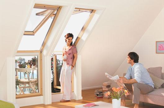 velux dachbalkon wohndachfenster dachgauben einbau service reparatur zubeh r im. Black Bedroom Furniture Sets. Home Design Ideas