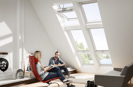 velux systeml sung quartett mit zusatzelement wohndachfenster dachgauben einbau service. Black Bedroom Furniture Sets. Home Design Ideas